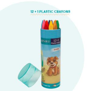 Apsara 12 + 1 Plastic Crayons