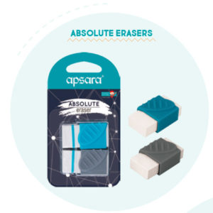 Apsara Absolute erasers - 2 pc blister pack