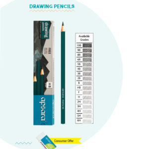 Apsara Drawing Pencils - 10 pc pack (10B & 12B Single grade)