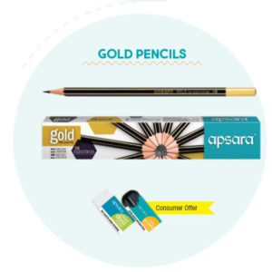 Apsara Gold Pencils (10 pc pack)
