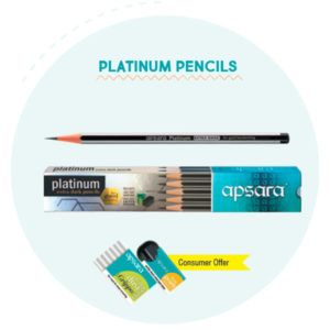 Apsara PLATINUM Pencils (10 pc pack)