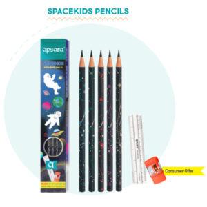 Apsara Spacekids pencils (10 pc pack)