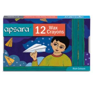 Apsara Wax Crayons - 12 Wax Crayons Crayons