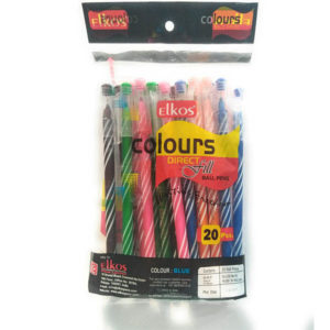 Elkos Direct Fill Ball Pens (Pack of 20 Piece)