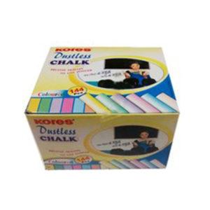 Kores Dustless Chalk - Coloured- 144 Pieces