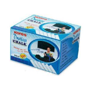 Kores Dustless Chalk - White - 144 Pieces