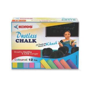 Kores Dustless Coloured Chalk 12N