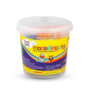 Kores Modelling Clay 8 Colour Jar