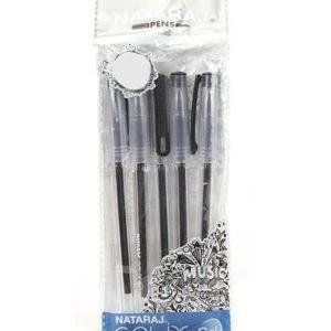Nataraj Pens- Gelix Gel Pens - pack of 5 pens (Black Colour)