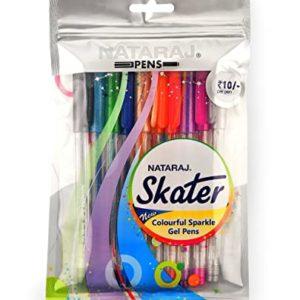 Nataraj Skater Colorful Sparkle Gel Pens (Multicolor)
