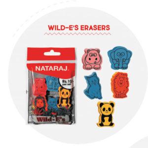 Nataraj Wild-e's Erasers - 5 pc pack