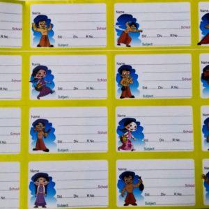 Chhota Bheem Name Slips/Labels for NoteBooks & TextBooks