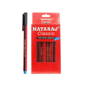 Natraj Classic Fine Tipped Smooth Ball Pen / Blue Colour / Packet of 20 Pens