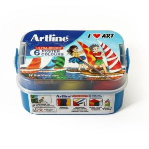 ARTLINE ULTRA-BRIGHT POSTER COLOURS 6 SHADES