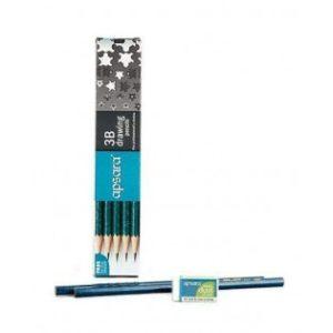 Apsara Pencil - 3B Shade - 10 Pencils Pack