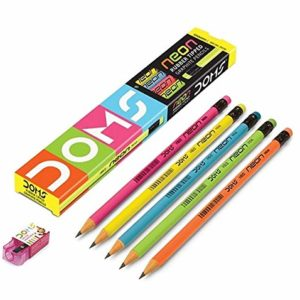 DOMS Neon Rubber Tipped Graphite Pencil