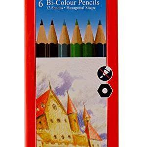 Faber Castell - 6 Shades Bi-Colour Pencils