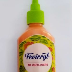 Fevicryl 3D Outliners (Fabric & Multi Surface) - Orange Colour