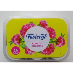 Fevicryl Acrylic Colours - 6 Shades