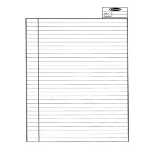 A4 Ruled Assignment Papers / Exam Papers - 50 Sheets - 70 GSM