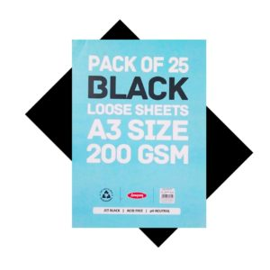 Back Colour Loose Sheets - A3 Size - 200 GSM - 25 Sheets