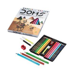 DOMS 12 Mega Triangle Colour Pencil