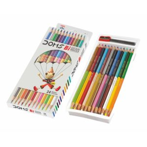 DOMS Bi Colour Pencil - 24 Bright Colours