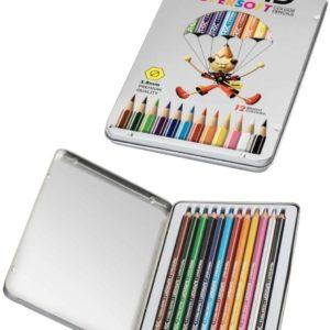 DOMS Supersoft Colour Pencils - 12 Bright Colours - 3.8mm Premium Quality