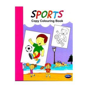 SPORTS Copy Colouring Book