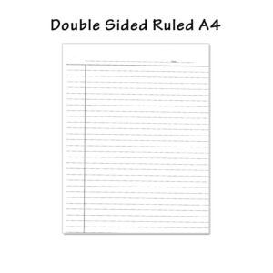 A4 Double Sided Single Line Paper