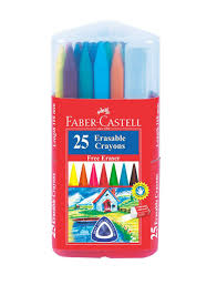 Faber Castell 25 Erasable Plastic Crayons