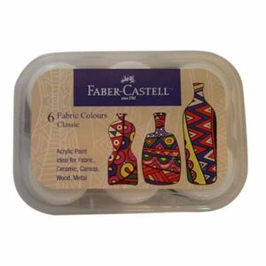 Faber Castell 6 Shades Fabric Colours Classic